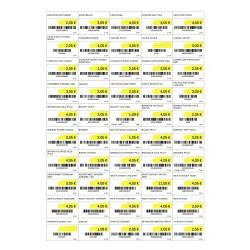 Planches d'étiquettes micro perforées